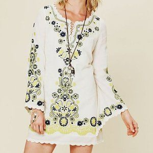 Free people embroidered dress size 2